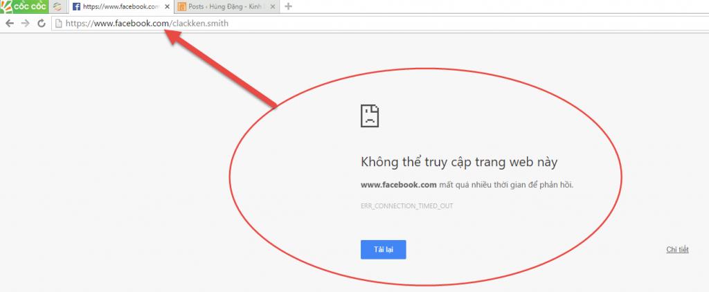 Facebook không truy cập được
