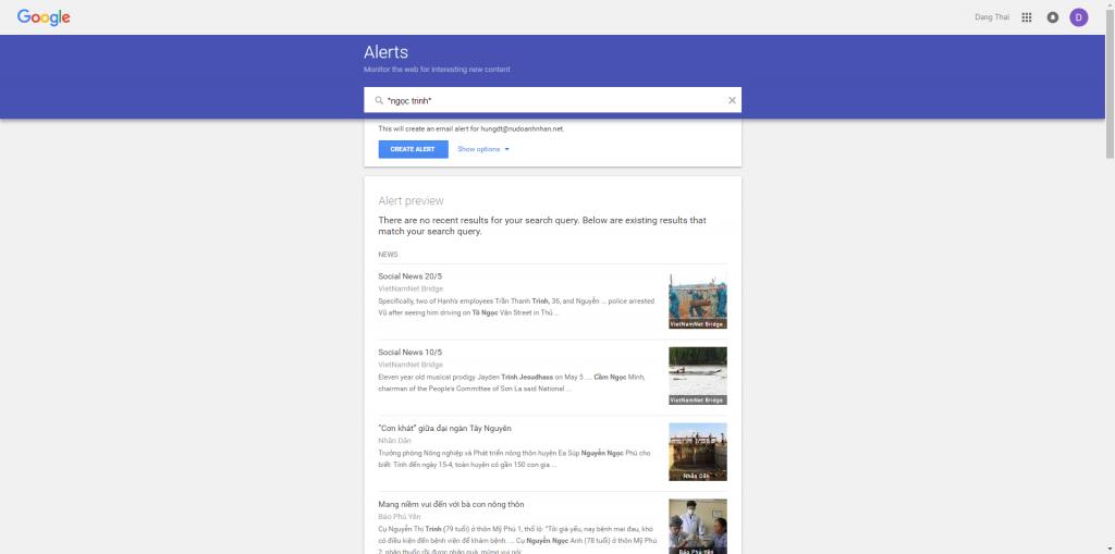 screen google alerts
